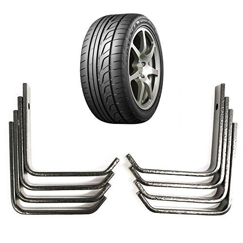 Yahee 8x Autoreifen Wandhalter Reifenhalter für Auto-Felgen Reifen Wandhalterung mit Schraubensatz