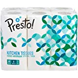 Amazon Brand - Presto! 2 Ply Kitchen Tissue Paper Roll - 60 Pulls (Pack of 6)
