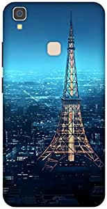 The Racoon Grip printed designer hard back mobile phone case cover for Vivo V3 Max. (eiffel tow)