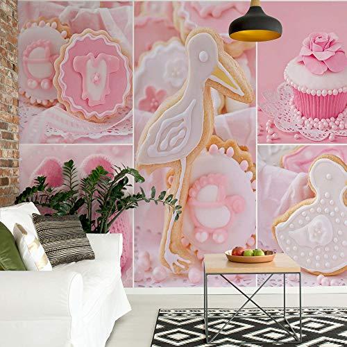 Rosa Baby-Sachen Vlies Fototapete Fotomural - Wandbild - Tapete - 152.5cm x 104cm / 1 Teilig - Gedrückt auf 130gsm Vlies - 10445VEL - Essen und Trinken