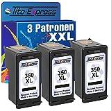PlatinumSerie® 3x Tinten-Patrone für HP 350 XL Black Photosmart C5240 C5250 C5270 C5275 C5280 C5290