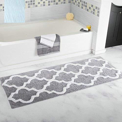 Traditionelle Ovale Teppich (WEI Waschbar Home Teppich Absorbierende Matten, Rutschfänger Matten Schlafzimmer Bad K & U; Che, Traditionelle Teppiche Hand, Rechteckiger Teppich,17.7in * 47.2in,A2)