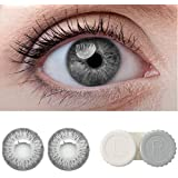 SOFT EYE Diamond Eye Monthly Contact Lens with Case and Solution (Light Grey)