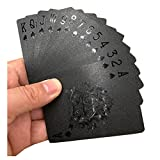 LJSLYJ Waterproof Black Diamond Grid Back Poker Cards Creative Gift Standard Playing Cards