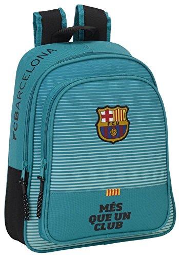 FC Barcelona Mochila Escolar, 34 cm, Turquesa