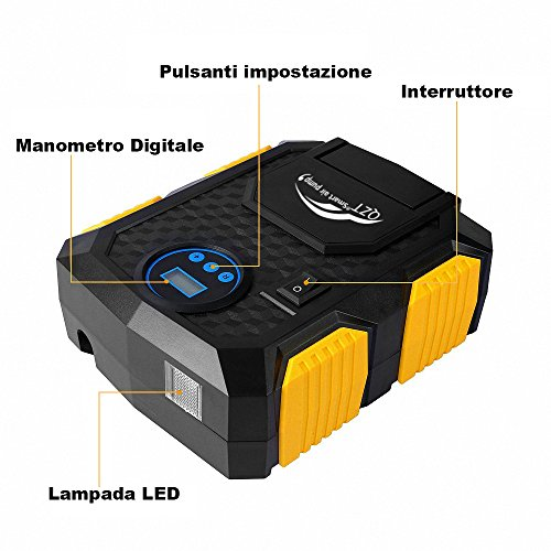Compressore-Per-Automobili-Compressore-Daria-Portatile-QZT-150PSI-Con-Lampada-a-LED-Manometro-Digitale-3-Adattatori-Di-Valvola-Cavo-3M-Con-Spina-12V-DC-Per-Accendisigari
