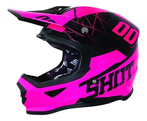 Shot Casco Cross Furious espectro neón rosa T negro rosa, talla M