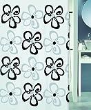 Spirella Anti-Schimmel Duschvorhang Follie Anti-Bakteriell, waschbar, wasserdicht Polyester 180x200cm