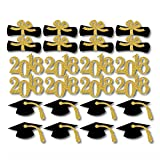 QICI 2018 Graduation Cupcake Toppers Graduation Party Diploma Cupcake Toppers Graduation Party Grad Prom Decorations 48 Pieces Features: - Color: Shown in the pictures. - Material: Wood. - Size: Approx. 10.3 * 5.7cm/ 4 * 2.2 inch (L*W). - Top-class m...