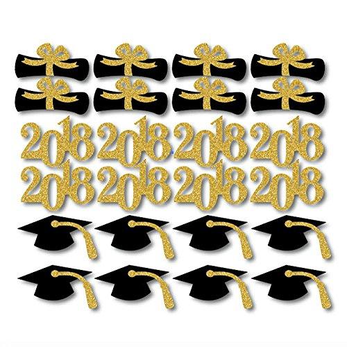 (QICI 2018 Graduation Cupcake Toppers | Abschlussfeier | Diplom Cupcake Toppers | Abschlussfeier Grad Prom Dekorationen | 48 Stück (48))