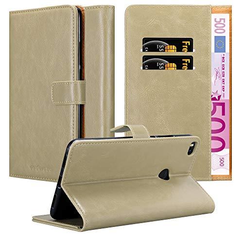 Cadorabo Funda Libro para Xiaomi Mi MAX 2 en MARRÓN Capuchino - Cubierta Proteccíon con Cierre Magnético, Tarjetero y Función de Suporte - Etui Case Cover Carcasa