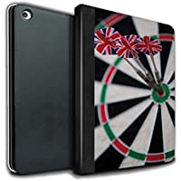 STUFF4 PU Leather Book/Cover Case for Apple iPad Air 2 tablets / Triple Bullseye Design / Darts Photo Collection
