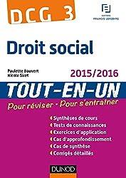 DCG 3 - Droit social 2015/2016 - 8e éd - Tout-en-Un