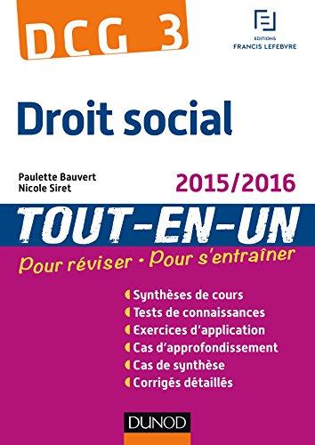DCG 3 - Droit social 2015/2016 - 8e éd ...