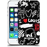 Official One Direction I Heart Louis Doodle Design Soft Gel Case for Apple iPhone 5 / 5s / SE