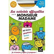 Les activités effaçables avec les Monsieur Madame - Petite section