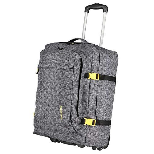 Travelite Basics Rollenreisetasche mit Rucksackfunktion 53 cm anthrazit Druck