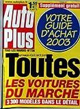 AUTO PLUS [No 736] - GUIDE D'ACHAT 2003 - TOUTES LES VOITURES DU MARCHE....