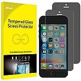 JETech Pacco da 2 Vetro Temperato Pellicola Protettiva Privacy per iPhone 5 5S SE - Nero