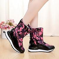 yjnb invernale mimetico boots-in-tube Short spessore scarpe e stivali con suola imbottita impermeabile e stivali in pile per stivali, Y11red Camo, 40EU/7UK/9US