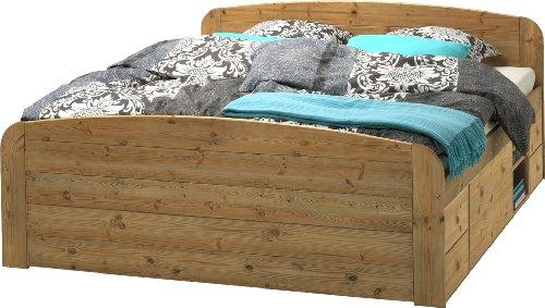 Steens 75600430 Bett Jana mit Unterbau 180 x 200 cm Kiefer massiv, gelaugt geölt
