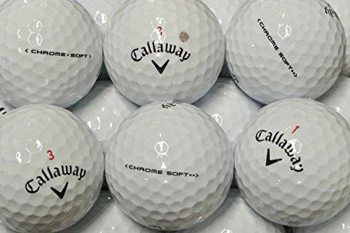 lbc-sports Callaway Chrome Soft Golfbälle - AAAA - AAA - Weiss - Lakeballs - gebrauchte Golfbälle - Teichbälle (25 Bälle)