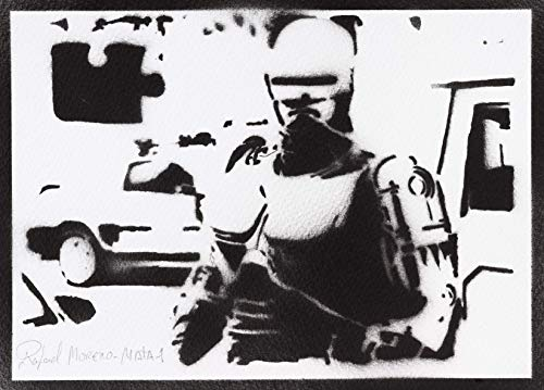 Spezielle Polizei Kostüm - Robocop Poster Plakat Handmade Graffiti Street