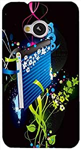 Timpax protective Armor Hard Bumper Back Case Cover. Multicolor printed on 3 Dimensional case with latest & finest graphic design art. Compatible with HTC M7 Design No : TDZ-25891