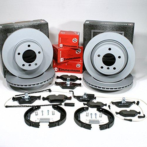 Preisvergleich Produktbild Zimmermann Bremsscheiben belüftet Coat Z / Bremsen + Bremsbeläge + Warnkabel + Handbremsbacken + Zubehör für vorne + hinten