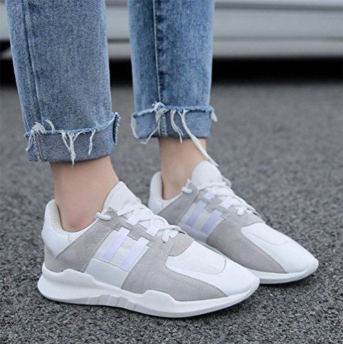 Flache beiläufige Sportschuhe Laufschuhe schnüren Schuhe Herbst Frau Aufzug Schuhe White