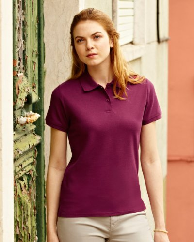 Fruit of the Loom 63030 - Lady-Fit Premium Polo Gr. XX-Large, Rosa - Hellpink - Rosa Polo Top