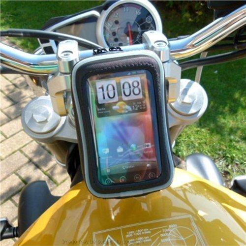 Motorrad 13mm Gabel Vorbau Halterung mit wasserdichtem smartphone-fall PASST HTC EVO 3D (SKU 11359) (Htc Evo Fällen)