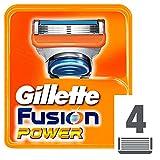 Gillette Fusion Power Lame di Ricambio per Rasoio da Uomo, 4 Testine