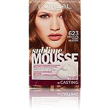 L'Oréal Paris Sublime Mousse Coloración Permanente, Tono: 623 Chocolate claro delicioso