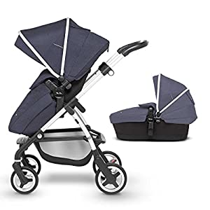 Silver Cross Wayfarer Pushchair and Carrycot, Midnight Blue   9