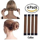 Super Simple Hair Bun Maker Set - 4pcs Women Girls Kids Easy Hair Styling Access