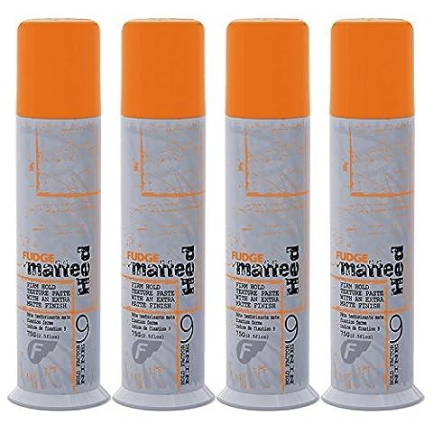 Fudge Matte Head Firm Hold Texture Paste With An Extra Matte Finish 75g / 2.5 fl.oz Factor 9 x4pcs