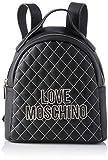 Love Moschino Pu, Borsa a Zainetto Donna, (Nero), 25x25x9 cm (W x H x L)