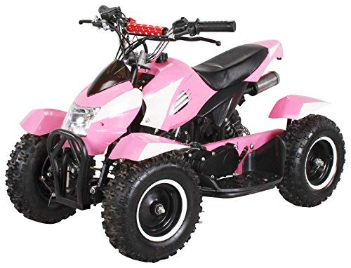Actionbikes Motors Miniquad Kinder ATV Cobra 49 cc Pocketquad 2-takt Quad ATV Pocket Quad Kinderquad Kinderfahrzeug (Pink Weiß)