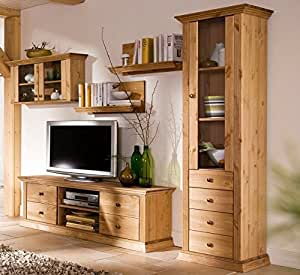 wohnwand aus kiefernholz gelaugt ge lt schrank k che haushalt. Black Bedroom Furniture Sets. Home Design Ideas