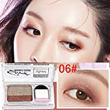 Momoxi 2 Color Lazy Eye Shadow Puder Rainbow Shimmer Makeup Beauty Shadow