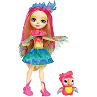 Enchantimals - Peeki Parrot Muñeca, (Mattel FJJ21)