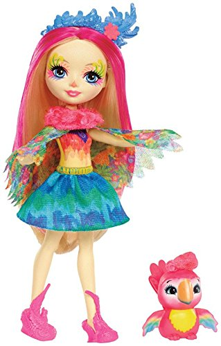 Enchantimals Muñeca Peeki Parrot, multicolor (Mattel FJJ21)