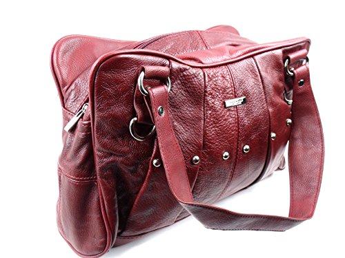 The Leather Emporium, Borsa tote donna Rosso - Rosso