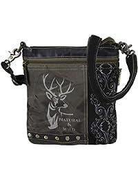 d629edd61d277 Domelo Tracht kleine Damen Trachtentasche Dirndltasche Vintage Tasche  Umhängetasche Schultertasche Handtasche Canvastasche…