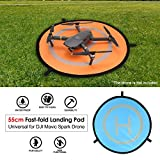 Ballylelly 55 centimetri Landing pad Fast-fold universale FPV Drone Parking Grembiule Pad pieghevole per DJI Spark Mavic Pro FPV Racing Drone accessorio (arancione e blu - 55 cm)