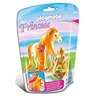 Playmobil 6168 Collectable Princess Sunny with Horse for Grooming and Dressing their Mane