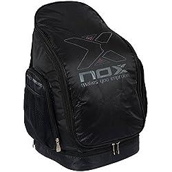 Nox Petaneg16 Mochila de Pádel, Unisex adulto, Negro, Única