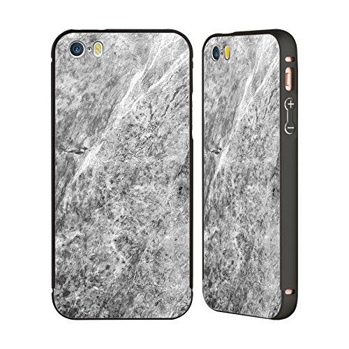 Offizielle Nicklas Gustafsson Holz Anker Texture Schwarz Rahmen Hülle mit Bumper aus Aluminium für Apple iPhone 5 / 5s / SE Marbel