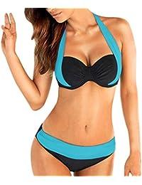 cc4a4c14c72b9 Bikini Set, KEERADS Womens Two Piece Halter Low Waist Push-Up Padded  Bathing Suits